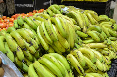 Bananas for sale at Hyperstar Supermarket. Emporium Mall, Lahore Pakistan Stock Photo
