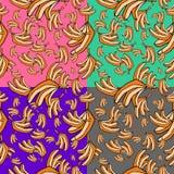 Bananas seamless pattern background Stock Photography