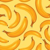 Bananas seamless pattern Royalty Free Stock Photo
