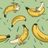 Bananas seamless 1 Stock Photos