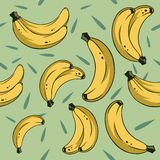 Bananas seamless 2. Bananas pattern for using in different spheres Royalty Free Stock Photography