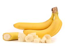 Bananas and slices Stock Photography