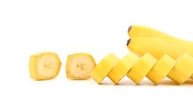 Bananas and slices Royalty Free Stock Images