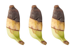 3 bananas taste the difference. isolated on white Stock Images