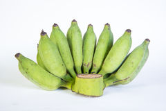 Bananas,Thai cultivated banana, Thai bananas. On on white background stock photography