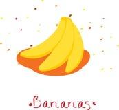 Bananas. Vector bananas. three yellow bananas Royalty Free Stock Images