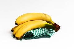 Bananas whit green Stock Image