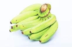 Bananas on a white background. Bunch of green bananas on a white background Stock Photography