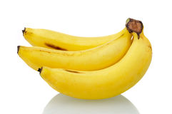 Bananas on white background Royalty Free Stock Photography