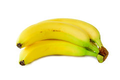Bananas on a white Royalty Free Stock Images