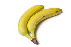 Bananas. With a white Background Royalty Free Stock Photos