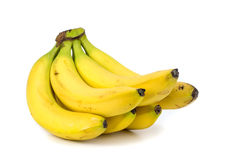 Bananas on a white background. Stock Images