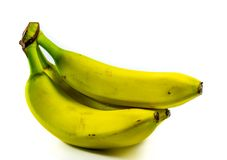 Bananas. On a white background Royalty Free Stock Photography