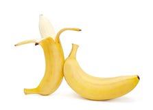 Bananas  on the white background. 。 Royalty Free Stock Photo