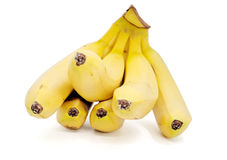 Bananas  on the white background. 。 Royalty Free Stock Images
