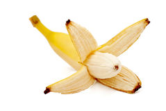 Bananas  on the white background. 。 Royalty Free Stock Photography