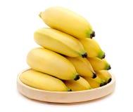 Bananas  on the white background Stock Photos