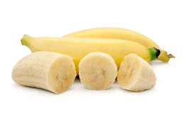 Bananas  on the white background Royalty Free Stock Photography
