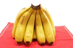 Bananas on white background Royalty Free Stock Images