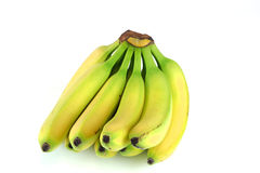 Bananas on white background. A bunch of bananas on white background Royalty Free Stock Photography