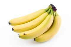 Bananas white background Stock Photos
