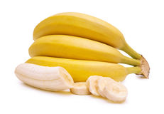 Bananas on a white background Royalty Free Stock Image