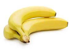 Bananas on white background. Ripe bananas isolated on white background royalty free stock photo