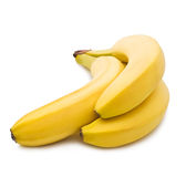 Bananas on white background. Ripe bananas isolated on white background royalty free stock photos