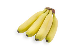 Bananas on white background Stock Photos