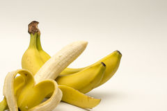 Bananas  on white Royalty Free Stock Images