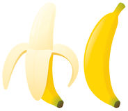 Bananas. Yellow bananas zipped and unzipped Stock Photo