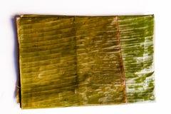 Bananbladet som används för förberedelsen av typisk venezuelan jul, besegrar hallaca Arkivbilder