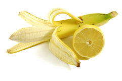 banancitron royaltyfri bild