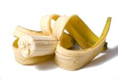 Banane à moitié mangée Images libres de droits