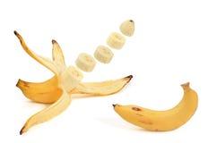 Banane épluchée Photographie stock libre de droits