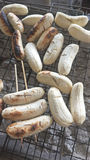 Banane arrostite Fotografia Stock Libera da Diritti