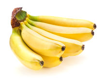 Banane auf Weiß Stockfotos