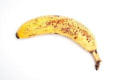 Banane auf Weiß Stockfotografie