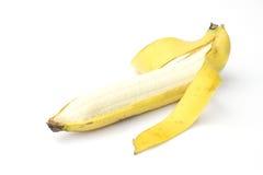 Banane auf Weiß Stockfoto