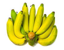 Banane auf Weiß lokalisiertem Hintergrund Lizenzfreies Stockfoto