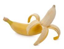 Banane auf weißem Hintergrund lizenzfreie stockfotos
