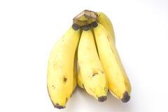 Banane auf weißem Hintergrund Lizenzfreies Stockfoto