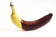 Banane avec du chocolat photos libres de droits