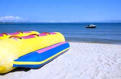 Banane boat.beach Stockfotos