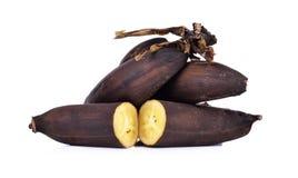 Banane défraîchie d'isolement sur le fond blanc Image libre de droits