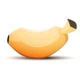 Banane d'isolement par bande dessinée de vecteur Photo libre de droits