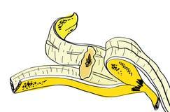 Banane de bande dessinée de vecteur Image libre de droits