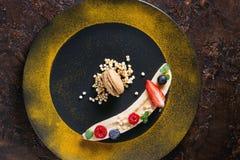 Banane de dessert d'électrodéposition Photographie stock libre de droits