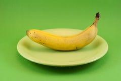 Banane de plaque photo stock