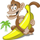 Banane de singe illustration libre de droits